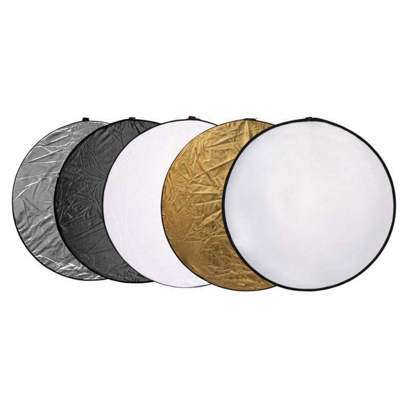 light modifier reflectors in 5 different shades