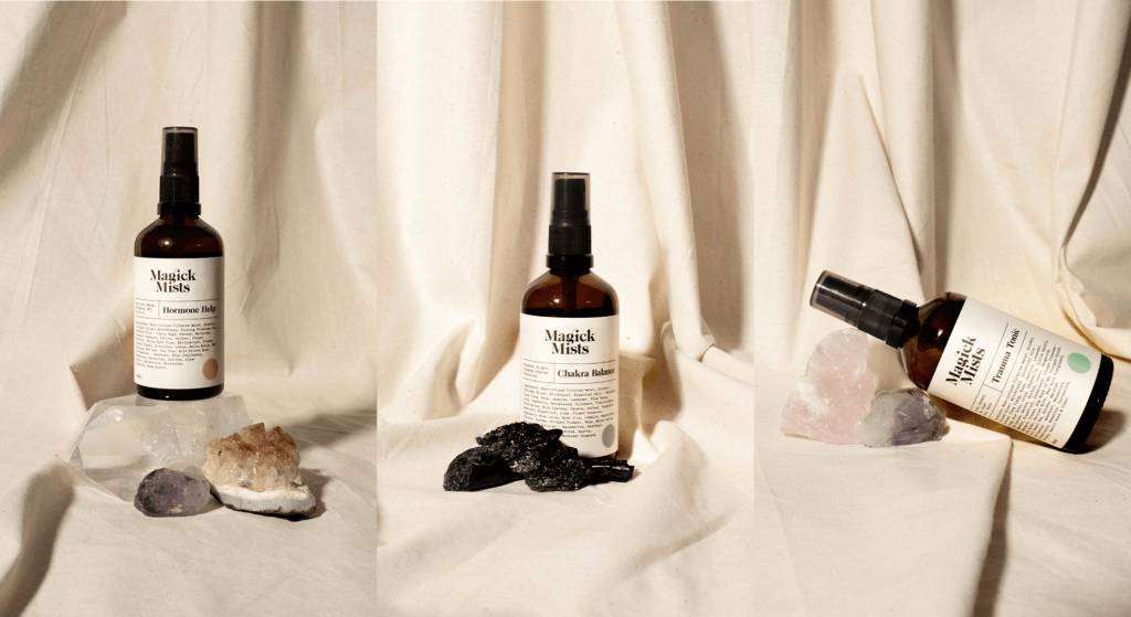 Magick Mists product photography using props